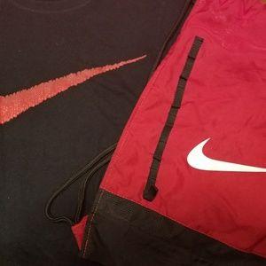 Nike shirt and nike mesh bag